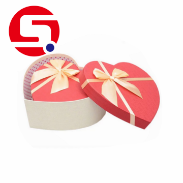 Custom Design Heart Shaped Cardboard Gift Box