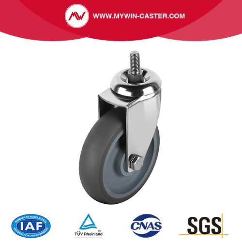 Threaded Stem TPR Swivel Caster