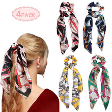 Scarf Scrunchies Silk Satin Elastic Hair Band
