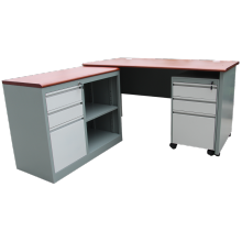 Personlized Products for L Shaped Desk,L Shaped Computer Desk,L Desk Manufacturer in China Metal Steel Office L Shaped Desk export to Jordan Wholesale