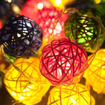 Festliche Lieferungen Rattan Ball Led Holiday Light
