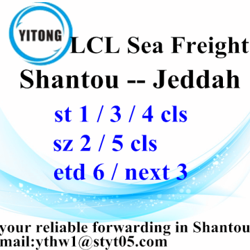 From Shantou to Jeddah Ocean Freight Shipping Agent