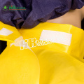 yellow color PE lamination coverall without cap