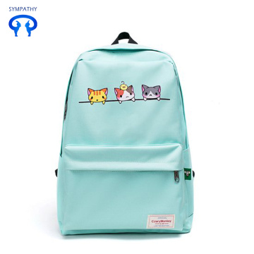 New nylon cute cat backpack lady bag