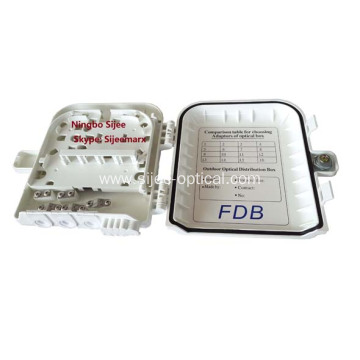 8 Core  FTTH  Fiber Optics Distribution Box