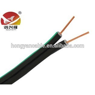 Europe style for Indoor Telephone Patch Cable High Quality 2 Wire Drop Wire Telephone Cable export to Finland Factory