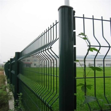 3D Welded Triangle Bending Curved Wire Mesh Fence