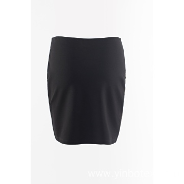 PU mixed knit skirt joint