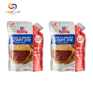 Mulit-layer Stand Up Sauce Packaging Pouch With Spout