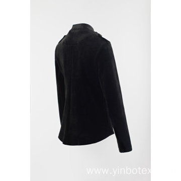 Ladies solid fleece blazer