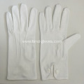White Military Parade Gloves Snap button