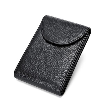 Business Custom Men's Genuine Leather Card Wallet Holder