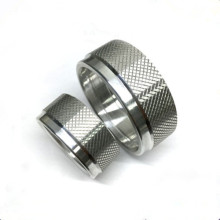 CNC lathe parts knurled nuts machined
