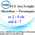 Shenzhen Ocean Freight Shipping Services to Paranagua