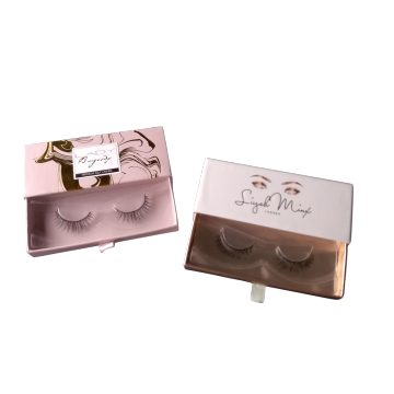 Drawer Type Rose Gold Interior Eyelashes Paper Box
