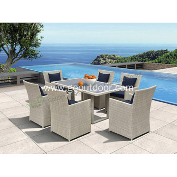 Rectangular Outdoor Dining Table With Chairs
