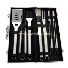 6 PCS BBQ Tools With Aluminum Case