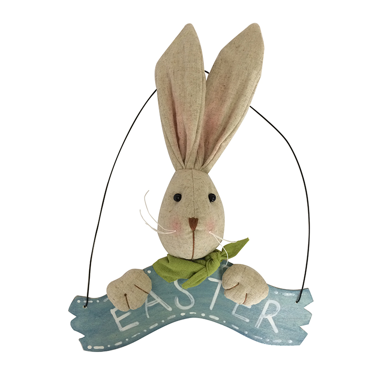 Easter 3d Bunny Wall Sign Banner
