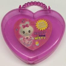 plastic heart shaped cute gift box