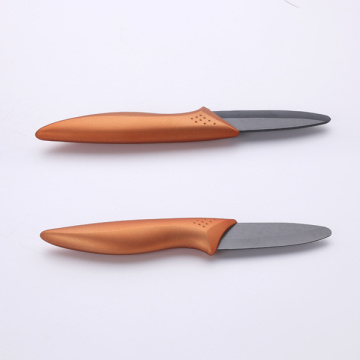 3 Inches Copper Handle Black Ceramic Knife
