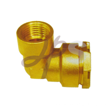 Brass pe ppr elbow compression fitting