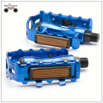 aluminum alloy mountain bike pedal bicycle pedal with reflector