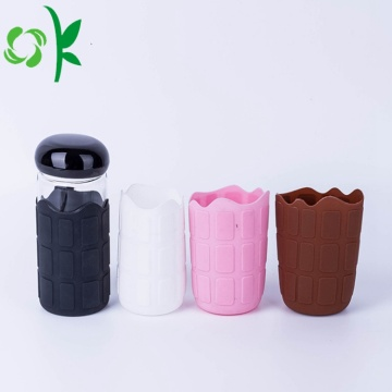 Silicone coffee mug sleeve for drink glass bottle