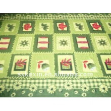 100% Polyester bright green polar fleece Blanket