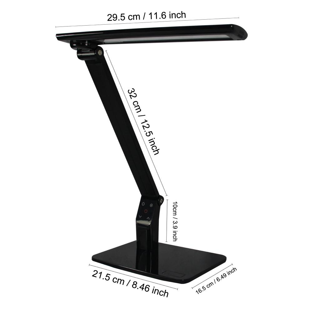 Exclusive Model LED Table Lamp with Recessed LEDs 5-Level Dimmer