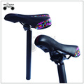 Black flower color mtb bicycle hollow saddle