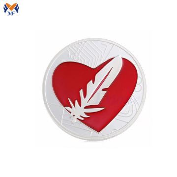 High value metal feather coin price