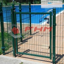 Terrace Entrance Fencing Door Powder-Coated Steel Gate