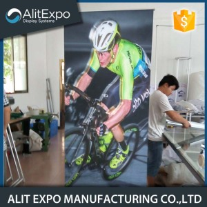 Custom flex advertising aluminum roll up banner