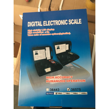 Accurate electronic refrigerant charging scale