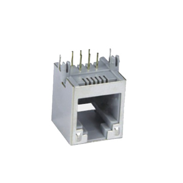 RJ45 Jack Side entry 1X1P Full Plastic
