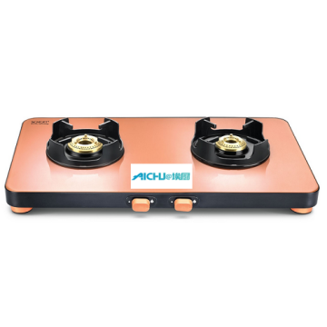 Pastel Schott Glass Top Gas Cooktop