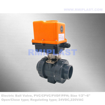 UPVC Ball Valve Elctric Powered Regulating Type