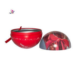 Christmas Decorate Ball  Candy Tin Box