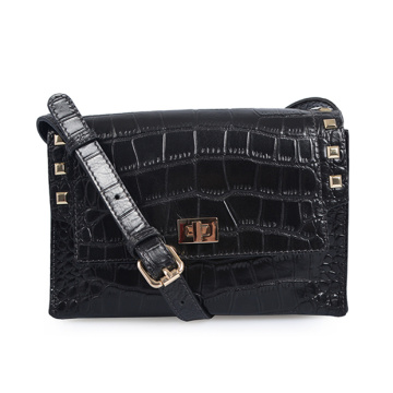 Handmade Small Satchel Leather Bags Women Black Bag
