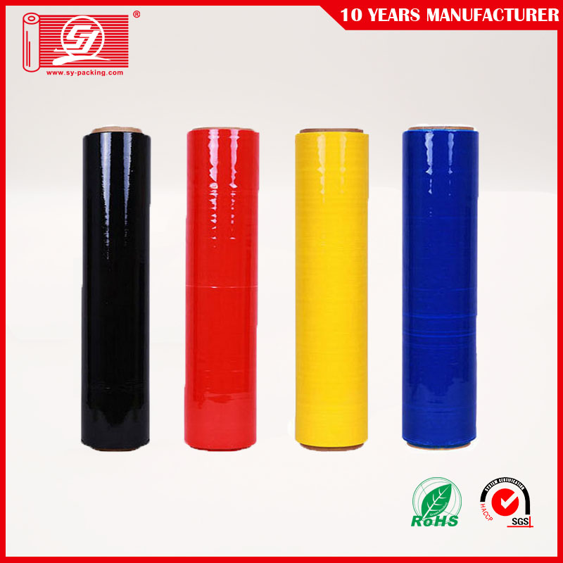 Black Lldpe Stretch Wrap Pallet Plastic Film