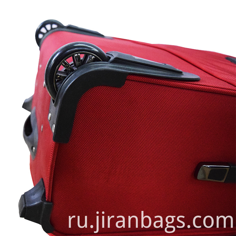 Red cloth luggage for international trip