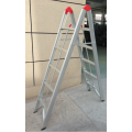 Folding stick step ladder