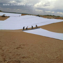 Non-woven needled geotextile in disposal fields