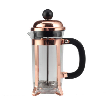 Copper Frame Glass French Press-Reusable Filter