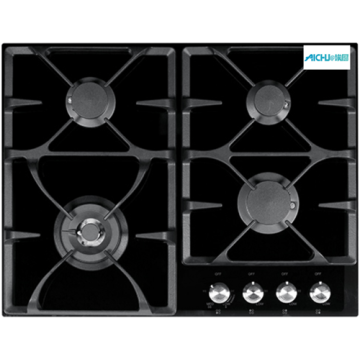Black Fragranite Hob Gas Ceramic Glass Hob