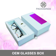 Custom hand made glasses packaging box oem