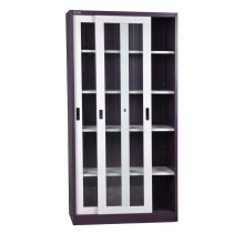Sliding glass door metal cupboard