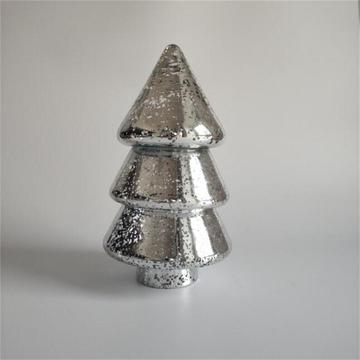 Christmas tree shaped crystal glass candy jar