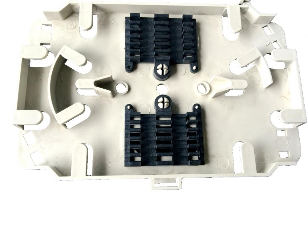 12 Cores Black And White Fiber Splice Tray