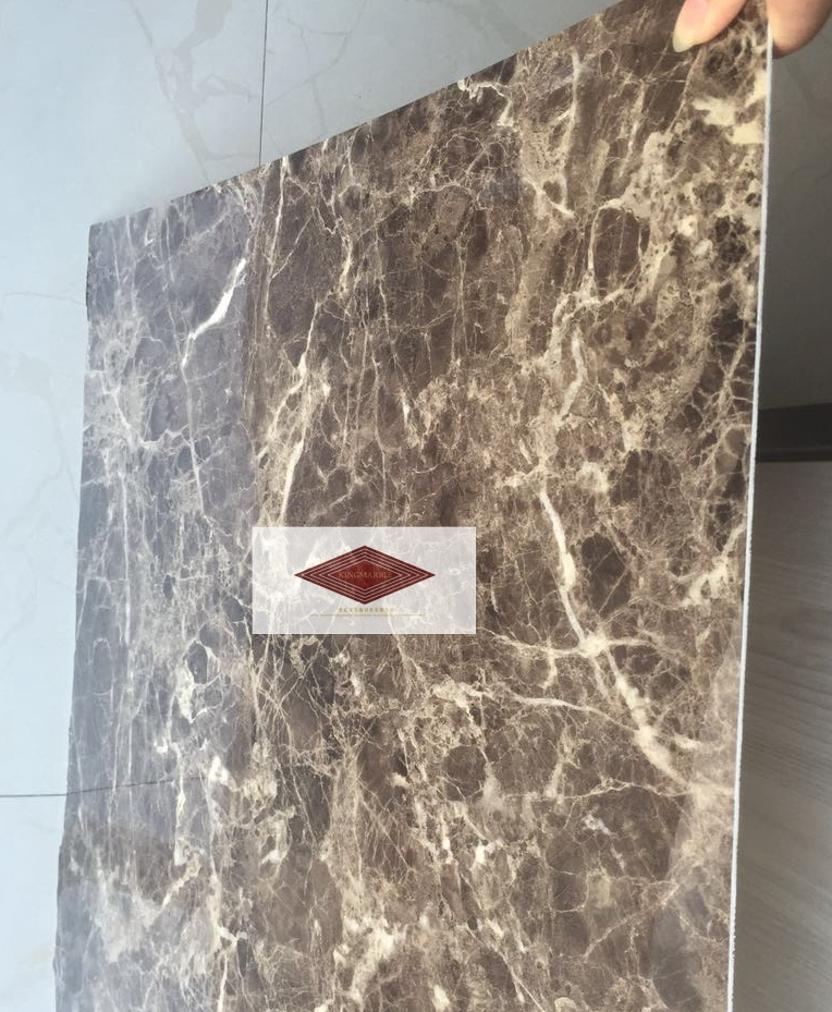2017 hot sale high glossy pvc marble panel